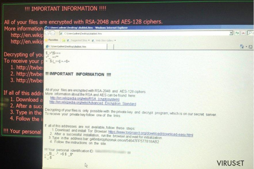 Diablo6 ransomware-virus