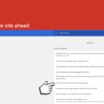 Deceptive site ahead skjermbilde