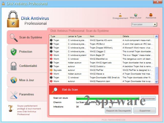Disk Antivirus Professional skjermbilde