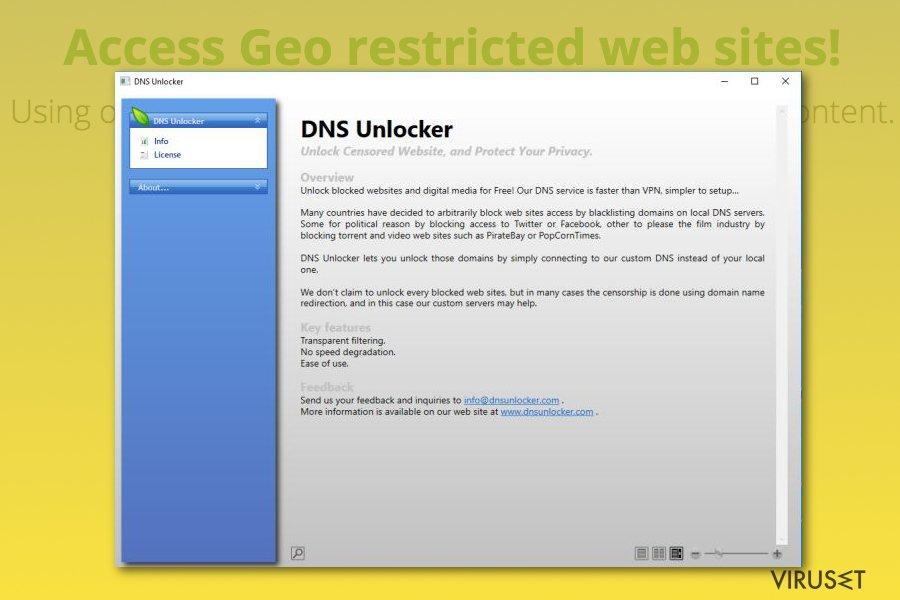 DNS Unlocker skjermbilde