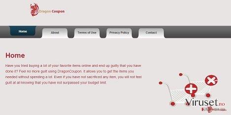 DragonCoupon virus skjermbilde