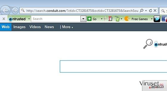 Entrusted Toolbar skjermbilde