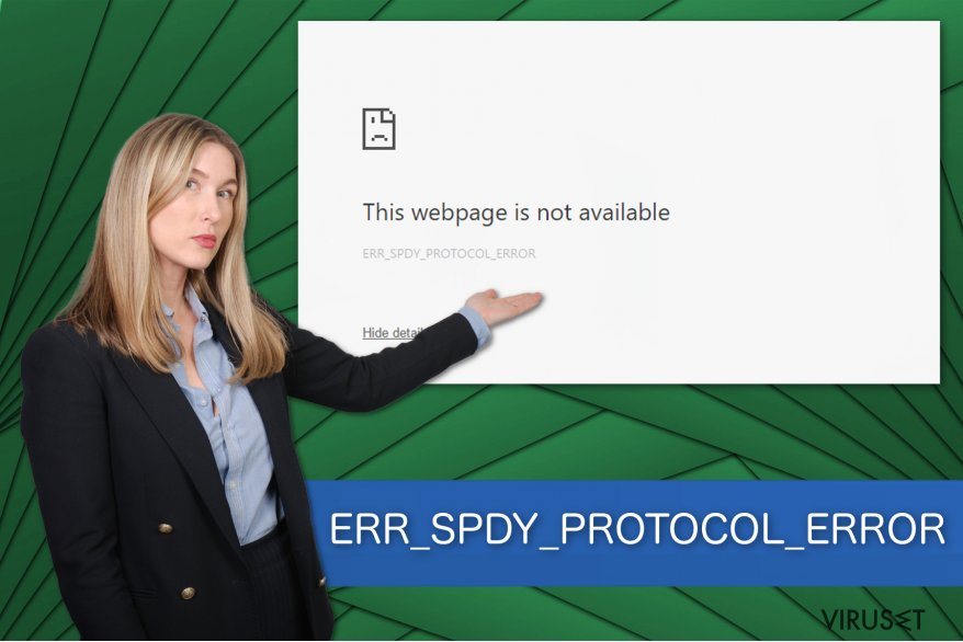 Illustrasjon av ERR_SPDY_PROTOCOL_ERROR
