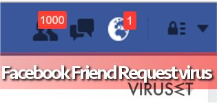 Facebook Friend Request-virus skjermbilde