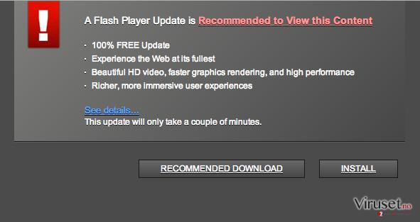 Trustedupdate.com popup virus skjermbilde