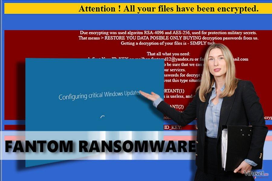 Fantom ransomware-virus skjermbilde