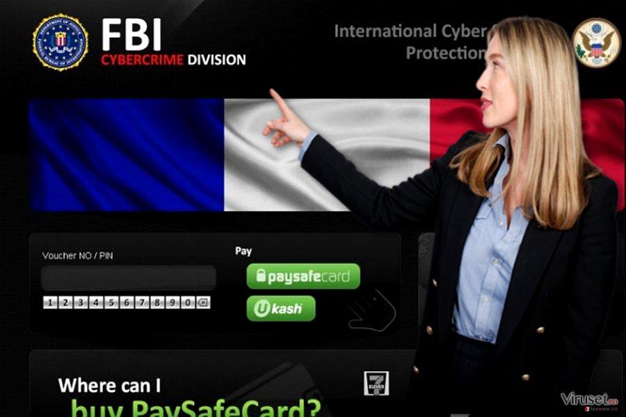 FBI Cybercrime Division virus skjermbilde