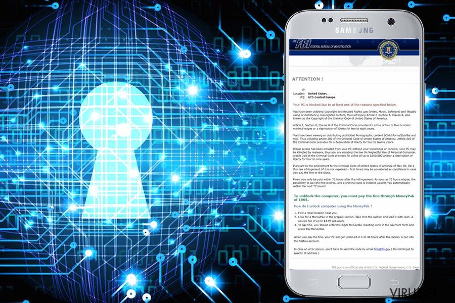 FBI Green Dot Moneypak-virus skjermbilde