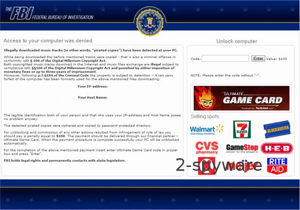 FBI Ultimate Game Card-virus