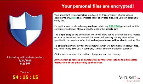 FessLeak ransomware skjermbilde