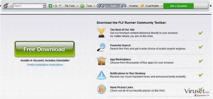 Flv Toolbar skjermbilde