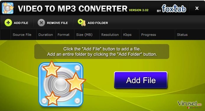 FoxTab Video Converter skjermbilde