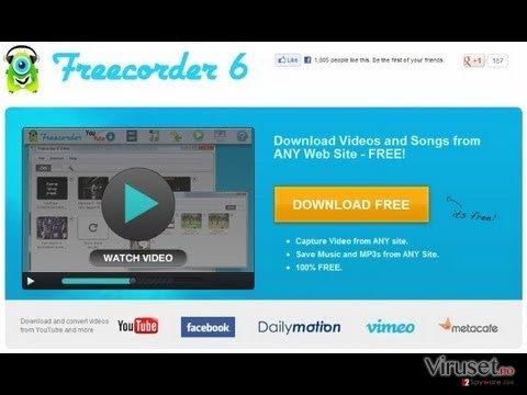 Freecorder skjermbilde