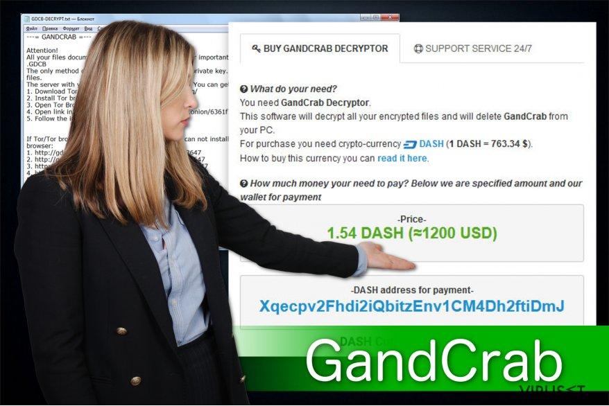 Illustrasjon av GandCrab ransomware