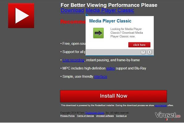 Downloadju.com popup-virus skjermbilde