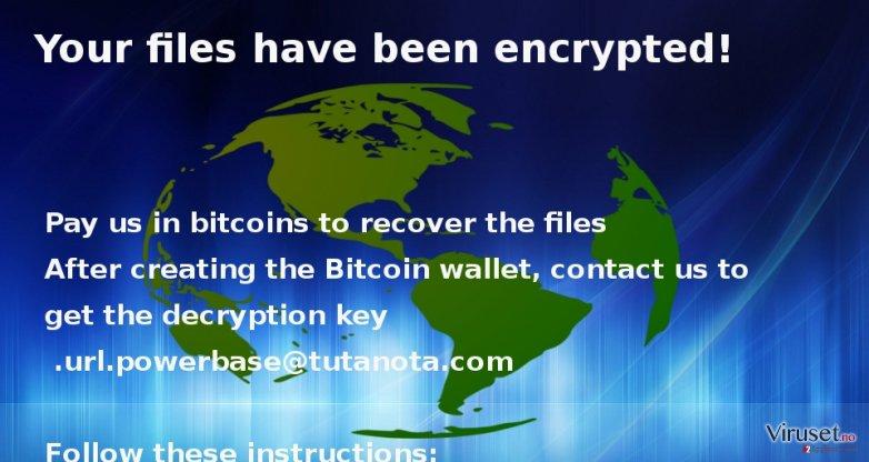 the screenshot of Globe virus