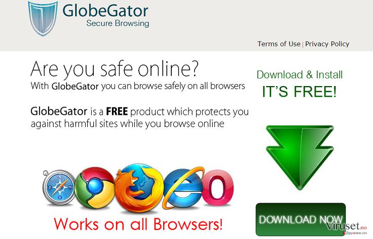 GlobeGator-annonser skjermbilde