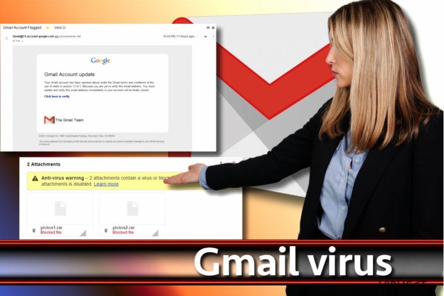 Skjermbilde av Gmail-viruset