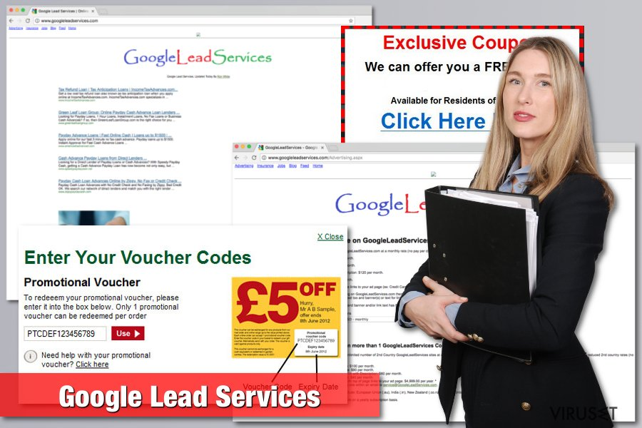 Bilde av Google Lead Services-viruset