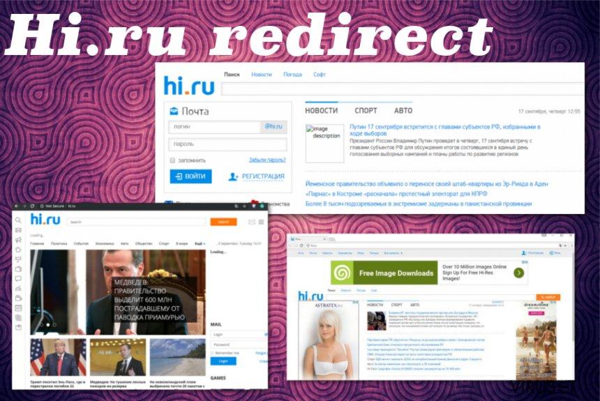Hi.ru omdirigeringer skjermbilde