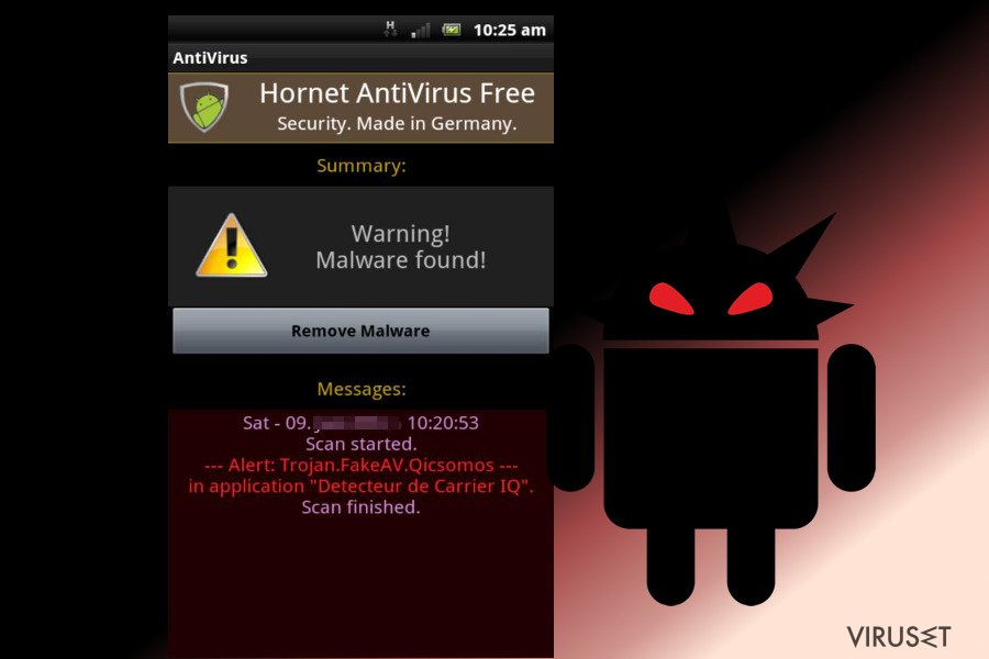 Android-virus skjermbilde