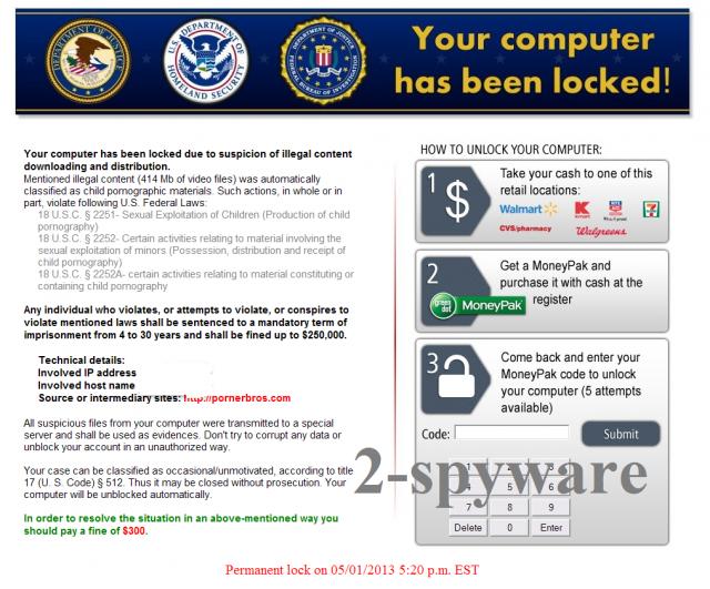 Homeland Security-virus skjermbilde