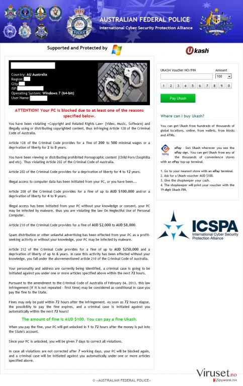 ICSPA virus skjermbilde