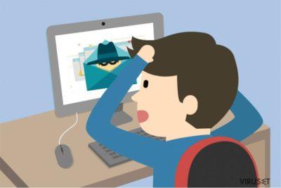 Illustrasjon av Idle Buddy-viruset