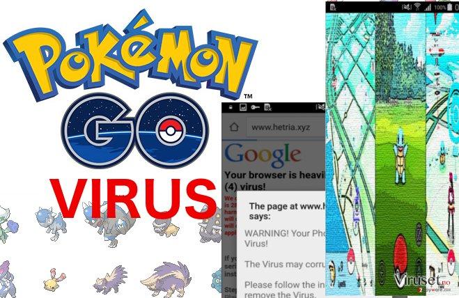 An illustration of Pokemon Go virus
