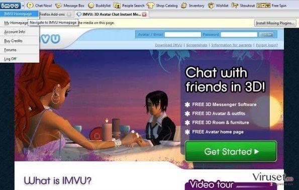 IMVU Toolbar skjermbilde