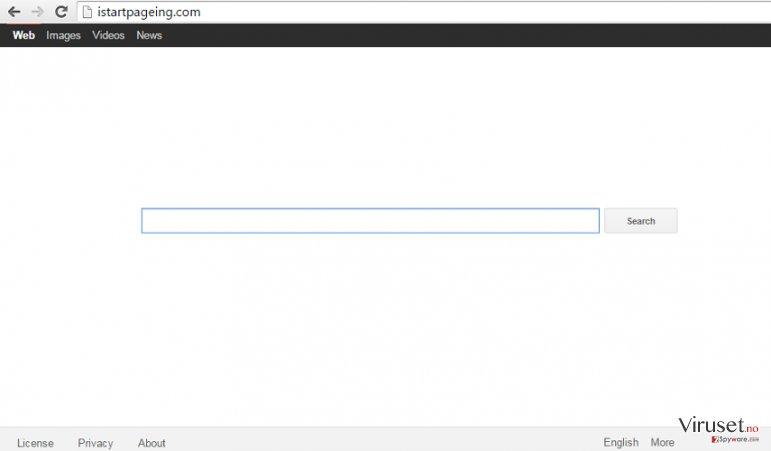 Istartpageing.com nettleserkaprer skjermbilde