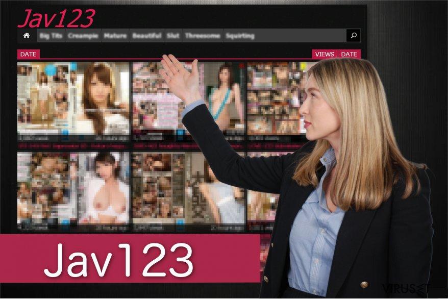 Jav123 omdirigerings skjermbilder