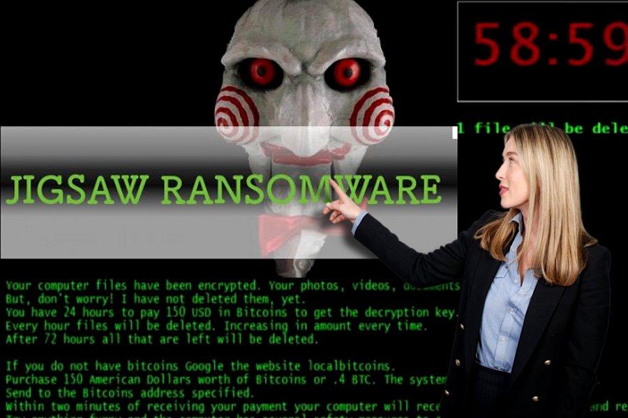 Jigsaw ransomware-virus skjermbilde