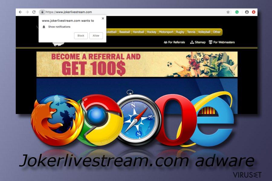 Jokerlivestream.com adware-program