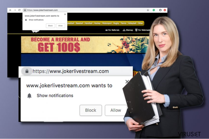 Jokerlivestream.com potensielt uønsket program