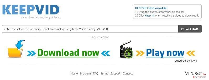 KeepVid.com skjermbilde