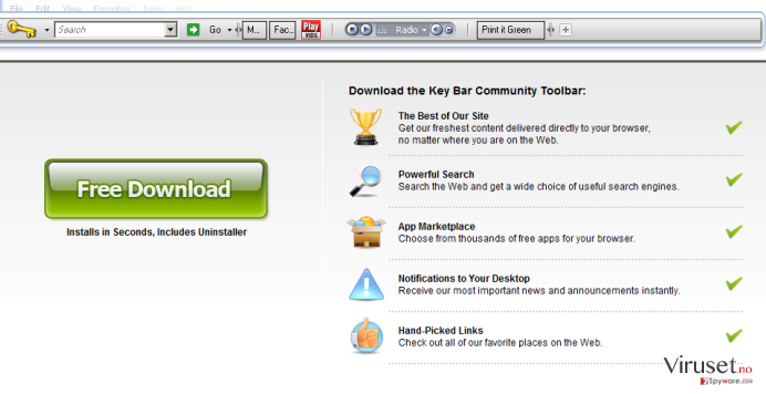 KeyBar Toolbar skjermbilde