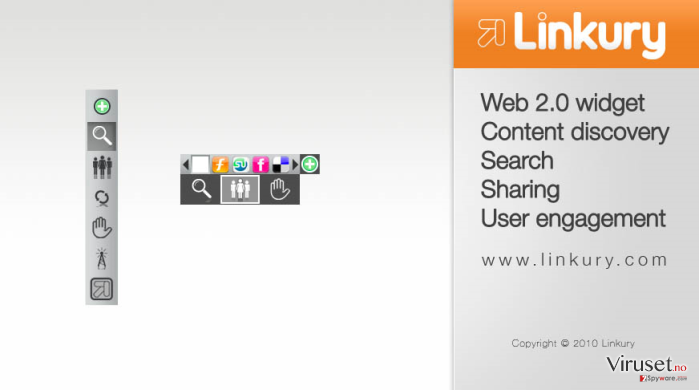 Linkury SmartBar skjermbilde