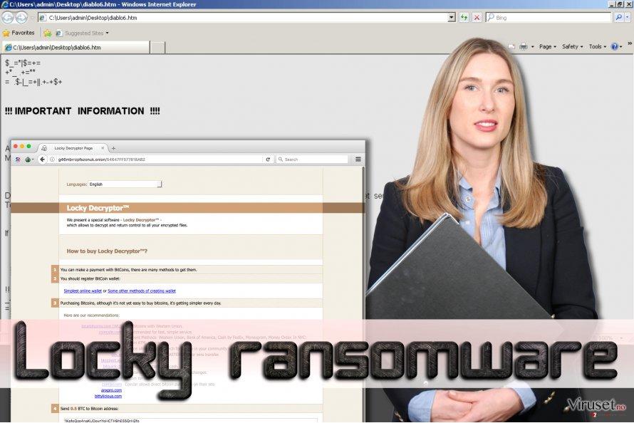 Locky ransomware skjermbilde