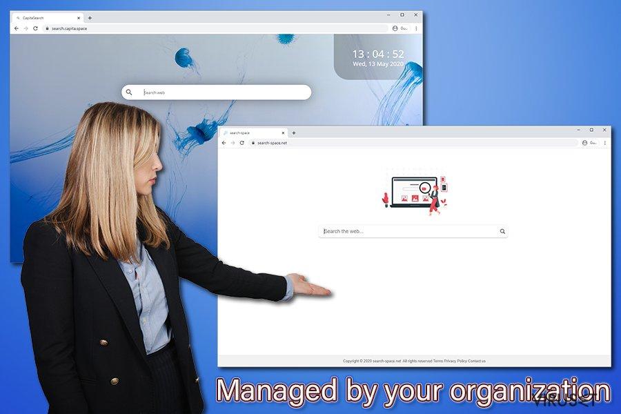 Administrert av organisasjonen din-varsel