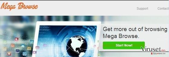 Mega Browse adware skjermbilde