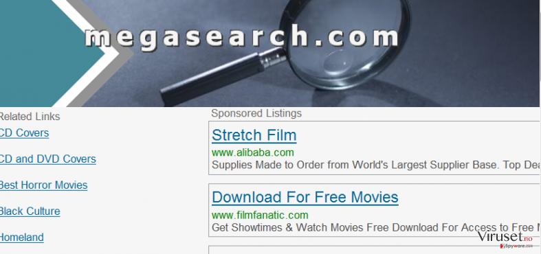 MegaSearch skjermbilde
