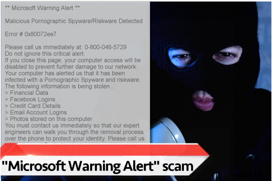 """Microsoft Warning Alert"" virus"