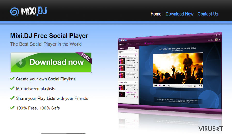 Mixi.dj virus skjermbilde