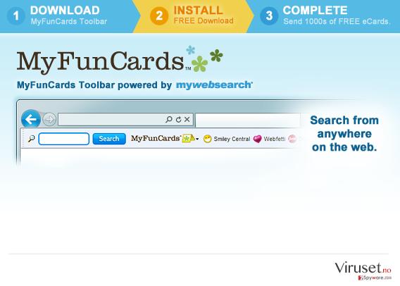MyFunCards Toolbar skjermbilde