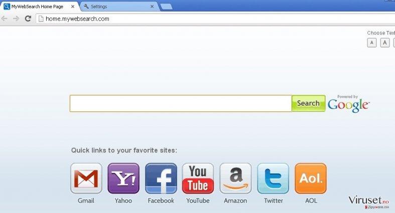 mywebsearch.com skjermbilde
