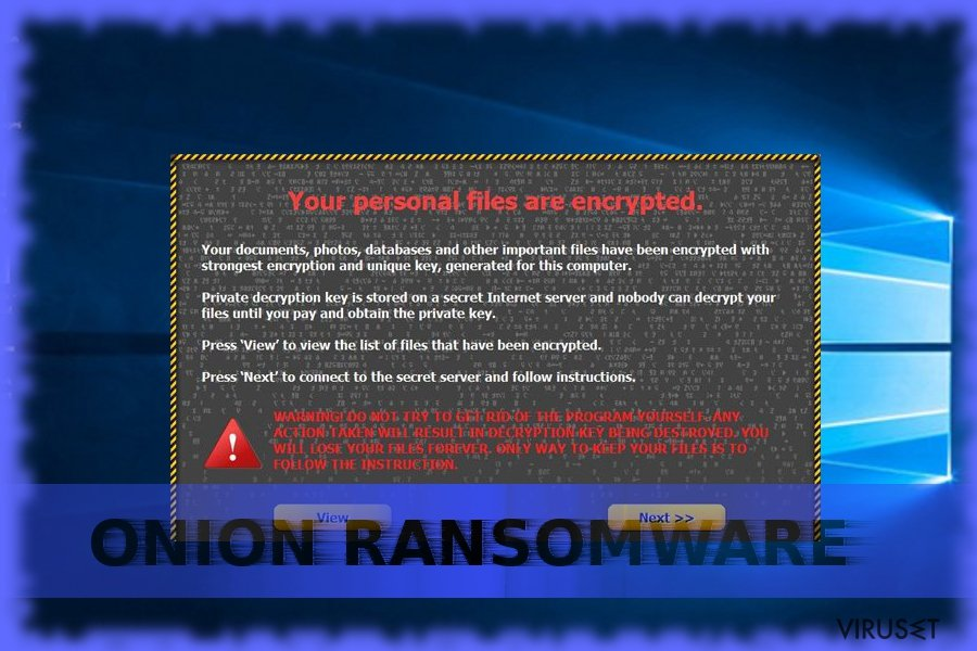 Onion ransomware skjermbilde