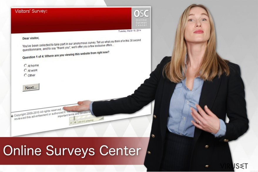 Online Surveys Center-virus skjermbilde