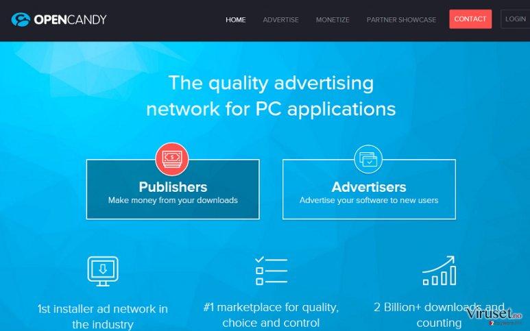 OpenCandy-annonser skjermbilde