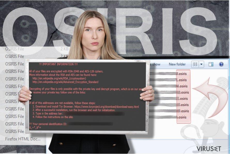 Osiris ransomware virus skjermbilde